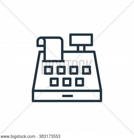 cashier icon isolated on white background from banking and finance collection. cashier icon trendy a