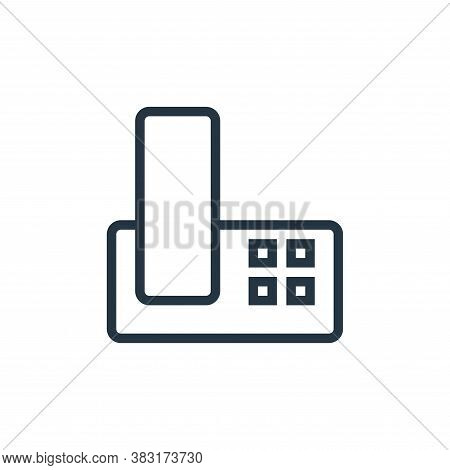 telephone icon isolated on white background from appliances collection. telephone icon trendy and mo