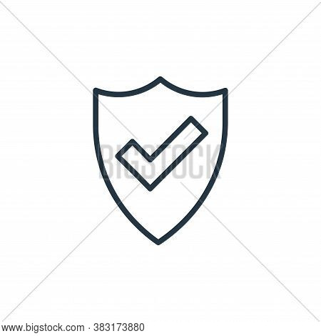 security icon isolated on white background from banking and finance collection. security icon trendy