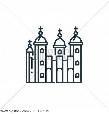 tower of london icon isolated on white background from england collection. tower of london icon tren