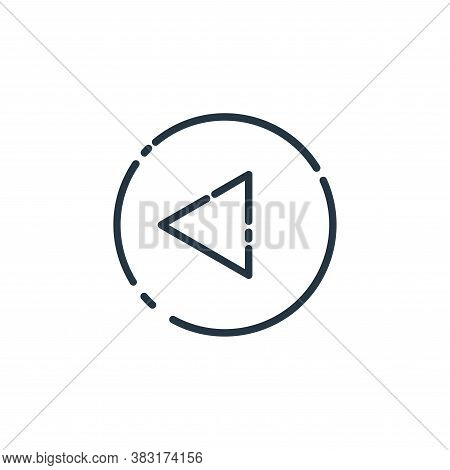 back icon isolated on white background from user interface collection. back icon trendy and modern b