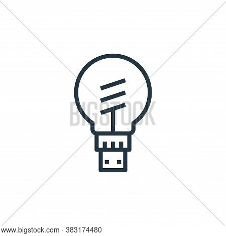 smart bulb icon isolated on white background from smarthome collection. smart bulb icon trendy and m