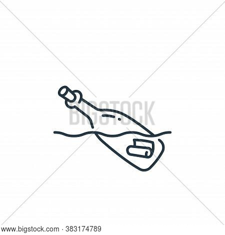 bottle icon isolated on white background from pirate collection. bottle icon trendy and modern bottl