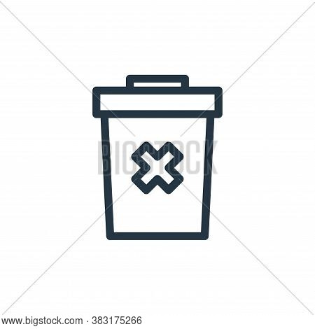trash bin icon isolated on white background from finance collection. trash bin icon trendy and moder