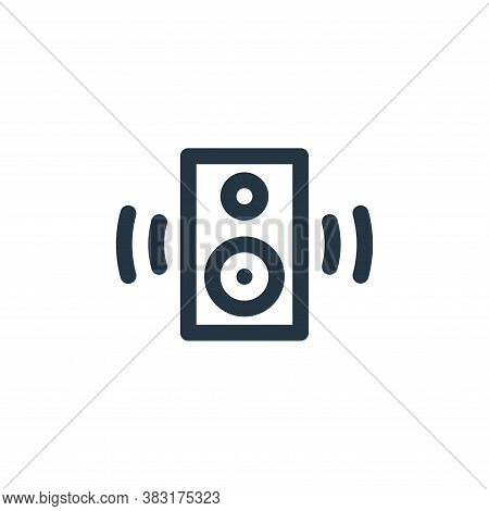 speaker icon isolated on white background from arts collection. speaker icon trendy and modern speak