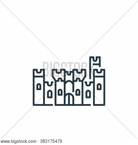 castle icon isolated on white background from england collection. castle icon trendy and modern cast