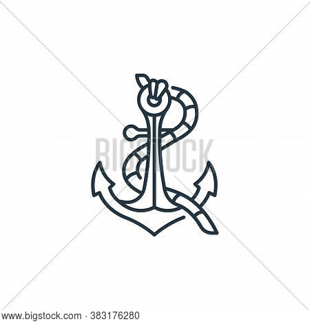 anchor icon isolated on white background from pirate collection. anchor icon trendy and modern ancho