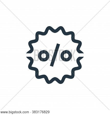 discount icon isolated on white background from ecommerce collection. discount icon trendy and moder