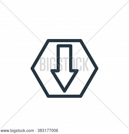 download icon isolated on white background from finance collection. download icon trendy and modern