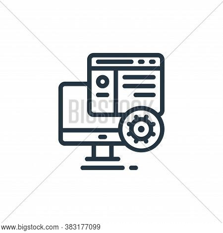 web services icon isolated on white background from design tools collection. web services icon trend