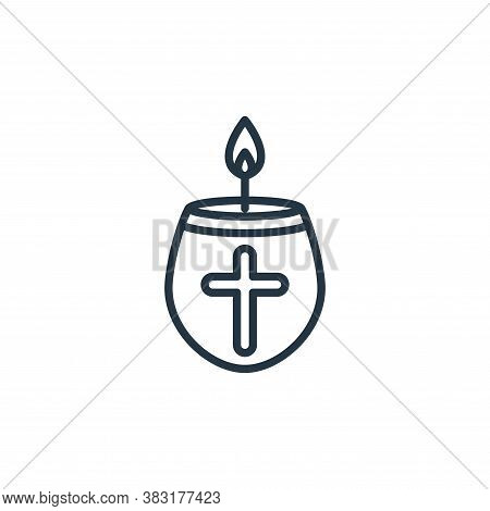 candle icon isolated on white background from easter day collection. candle icon trendy and modern c