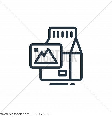 package icon isolated on white background from design tools collection. package icon trendy and mode