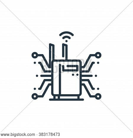 router icon isolated on white background from smart home collection. router icon trendy and modern r