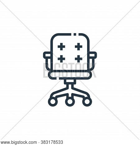 office chair icon isolated on white background from office collection. office chair icon trendy and