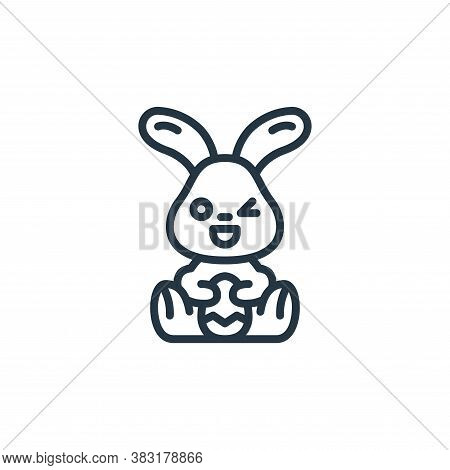 rabbit icon isolated on white background from easter avatars collection. rabbit icon trendy and mode