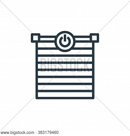 blinds icon isolated on white background from smarthome collection. blinds icon trendy and modern bl