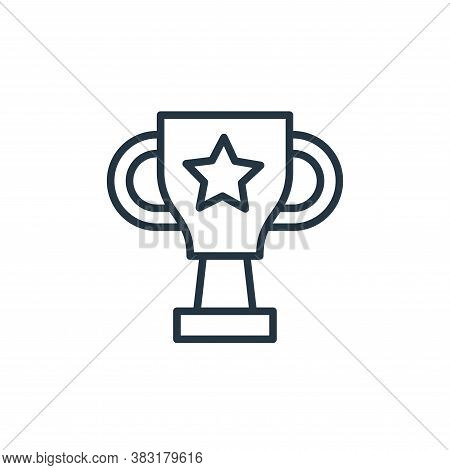 trophy icon isolated on white background from startup and development collection. trophy icon trendy