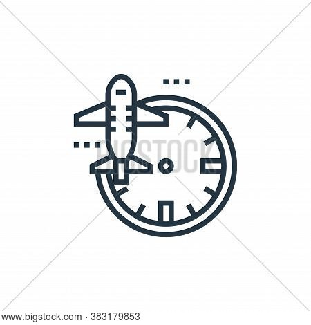 departure icon isolated on white background from airport collection. departure icon trendy and moder