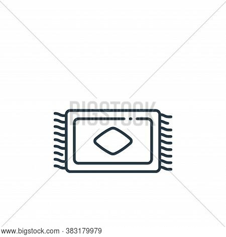 carpet icon isolated on white background from interior design collection. carpet icon trendy and mod