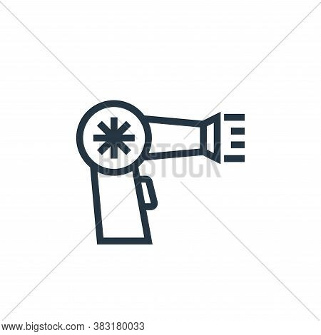 hair dryer icon isolated on white background from appliances collection. hair dryer icon trendy and