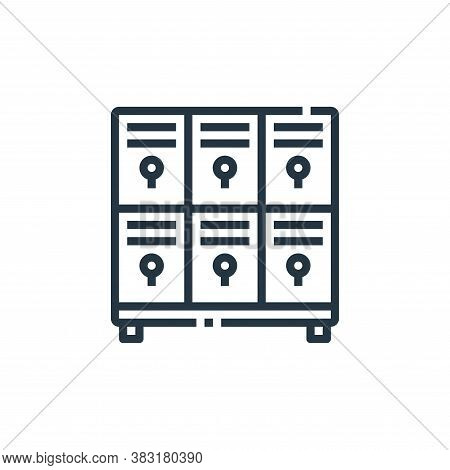 locker icon isolated on white background from office collection. locker icon trendy and modern locke