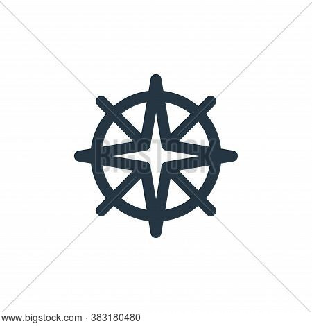 compass icon isolated on white background from outdoor collection. compass icon trendy and modern co