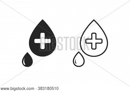 Blood Aid Bold Line Vector Icon Set