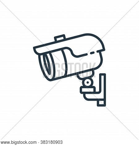 cctv camera icon isolated on white background from smart home collection. cctv camera icon trendy an