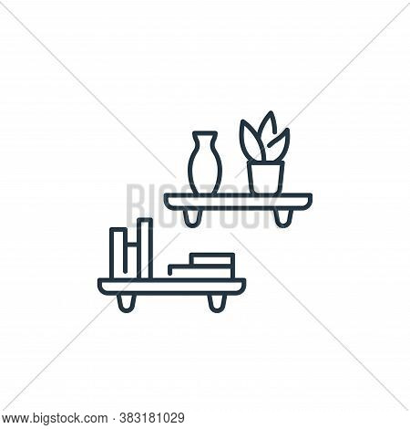 shelf icon isolated on white background from interior design collection. shelf icon trendy and moder