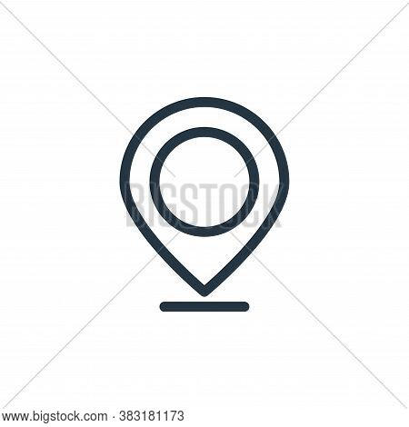 pin icon isolated on white background from finance collection. pin icon trendy and modern pin symbol
