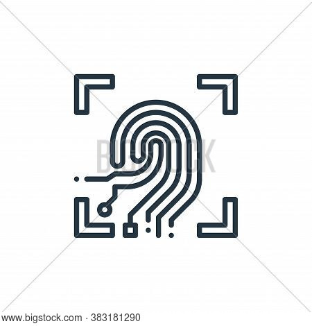 fingerprint scan icon isolated on white background from smart home collection. fingerprint scan icon