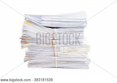 Stack Of Documents Isolated On White Background