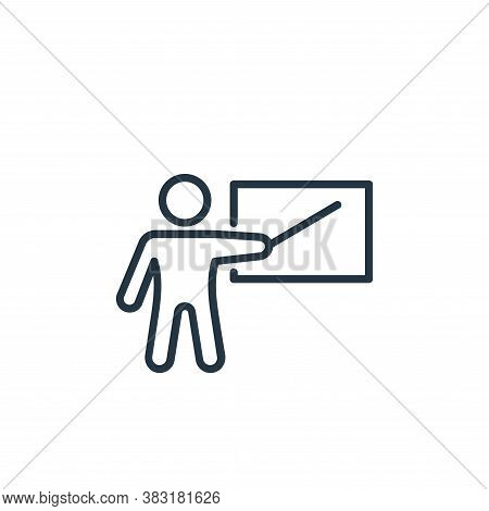 teacher icon isolated on white background from business training collection. teacher icon trendy and