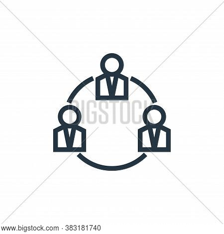 meeting icon isolated on white background from business collection. meeting icon trendy and modern m
