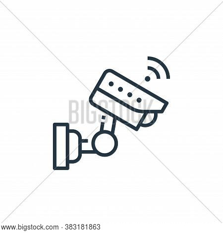 cctv icon isolated on white background from smart home collection. cctv icon trendy and modern cctv
