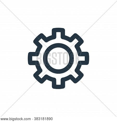 gear icon isolated on white background from laboor and tools collection. gear icon trendy and modern