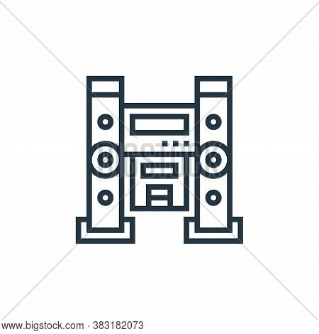 home theater icon isolated on white background from home appliances collection. home theater icon tr