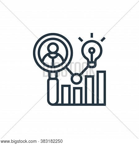 audience icon isolated on white background from digital marketing collection. audience icon trendy a