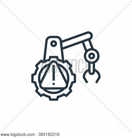 warning icon isolated on white background from industrial process collection. warning icon trendy an