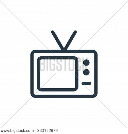 television icon isolated on white background from electronics collection. television icon trendy and