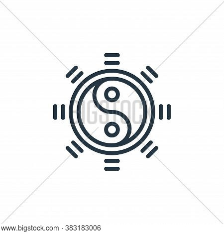 yin yang icon isolated on white background from chinese new year collection. yin yang icon trendy an