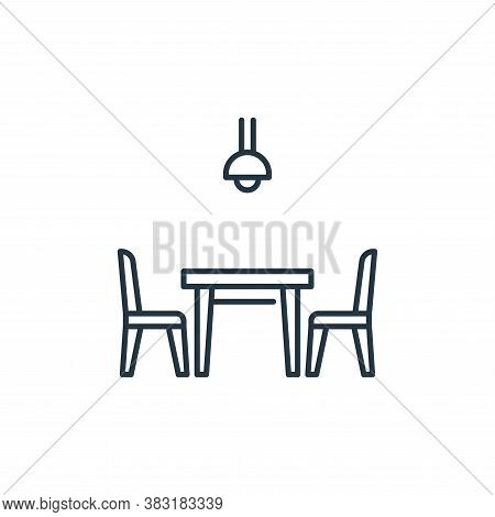 dinning table icon isolated on white background from interior design collection. dinning table icon
