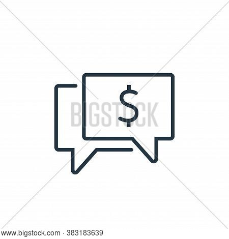 money talk icon isolated on white background from business training collection. money talk icon tren