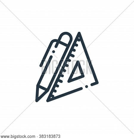 stationery icon isolated on white background from education collection. stationery icon trendy and m