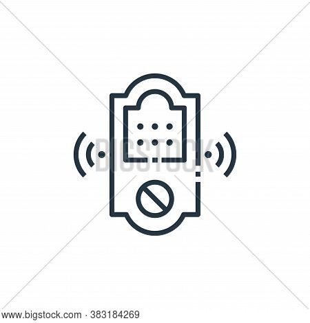 smart lock icon isolated on white background from smart home collection. smart lock icon trendy and