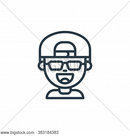 boy icon isolated on white background from kids avatars collection. boy icon trendy and modern boy s