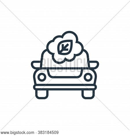 eco car icon isolated on white background from electric vehicle collection. eco car icon trendy and