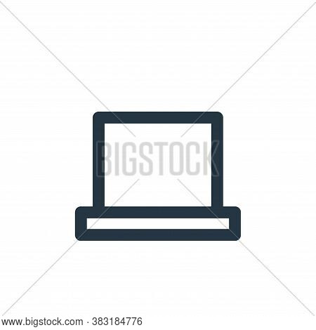 laptop icon isolated on white background from education collection. laptop icon trendy and modern la