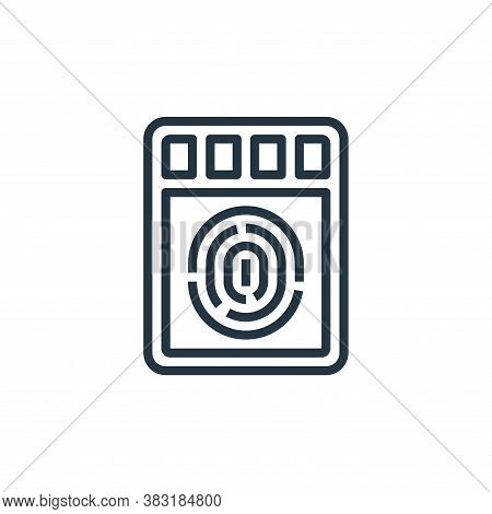 fingerprint scanner icon isolated on white background from smarthome collection. fingerprint scanner