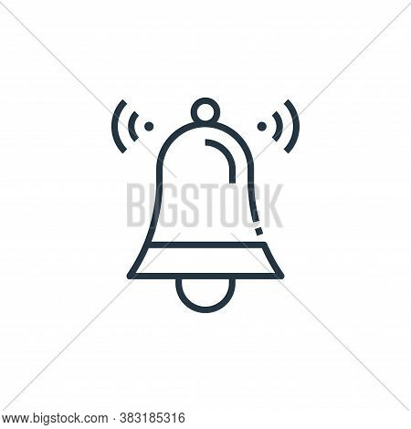 bell icon isolated on white background from smart home collection. bell icon trendy and modern bell